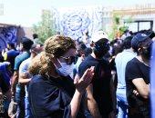 دفن جثمان الفنان سمير غانم بمقابر الوفاء والأمل.. فيديو