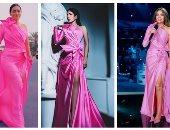 3 نجمات والفستان واحد من تصميم اللبنانى نيكولا جبران.. مين الأجمل؟