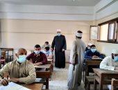 وكيل الأزهر يشدد على اتباع إجراءات الوقاية بامتحان القراءات فى شبرا الخيمة.. صور
