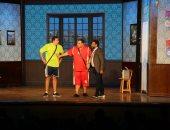 """فريق عمل مسرحية """"أبو العربى"""" ينتهى من تصوير حلقة في """"لايت شو"""" على الحياة"""
