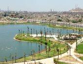 بحيرة عين الصيرة تتحول لتحفة فنية تظهر جمال القاهرة.. صور
