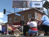 إحياء الذكرى الأولى لمقتل جورج فلويد فى ساحة مينيابوليس بأمريكا.. فيديو