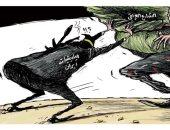 الشارع العراقى يتصدى لمؤامرات المليشيات فى كاريكاتير سعودي