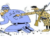 """الفلسطينيون يحذرون جنود الاحتلال """"إن عدتم عدنا"""" فى كاريكاتير عمانى"""