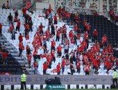 جماهير الأهلي تحتل مدرجات نهصة بركان فى ملعب السوبر الأفريقي.. فيديو