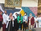 """إبداعات طلاب """"نوعية كفر الشيخ"""" يزين شارع المغازى وأكشاك الكهرباء.. صور"""