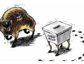 الحرس الثورى يحاول السيطرة على الانتخابات الإيرانية فى كاريكاتير سعودى