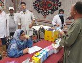 الكشف على 1005 مرضى بقرية السبخاوية مركز جمصة في قافلة طبية علاجية