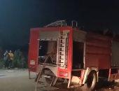 إخماد حريق نشب داخل ورشة تصليح سيارات فى البساتين