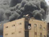 فريق من نيابة قصر النيل ينتقل لمعاينة حريق النادى الأهلى