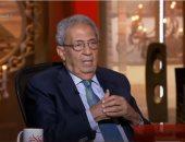 """عمرو موسى: شاهدت مسلسل """" الاختيار"""" ويطربنى عبدالوهاب وأتابع الكرة المصرية"""