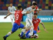 أهداف الخميس.. تعادل الأرجنتين مع تشيلي فى تصفيات كأس العالم 2022