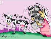 ميزانية هزيلة أمام احتياجات كثيرة في كاريكاتير كويتي