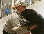 لحظة رائعة تجمع كلبا تائها مع صاحبته فى أمريكا بعد غياب أسبوعين.. فيديو وصور