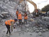 المعدات المصرية تواصل إزالة الأنقاض فى قطاع غزة لإعادة الإعمار