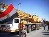 استمرار إدخال معدات ومواد إعادة الإعمار والطواقم المصرية إلى قطاع غزة