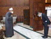 الإمام الأكبر يثنى على نشاط السفير التايلاندى مع أبناء وطنه الدارسين بالأزهر