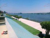 عملناه بلون المياه.. ممشى كورنيش النيل بالمنيا فسحة مجانية (فيديو وصور)