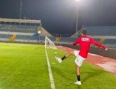 بيكهام يستعرض بالكرة في تدريبات الأولمبي ويسجل هدفا من ضربة ركنية.. فيديو