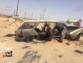 مصرع 2 وإصابة 2 فى حادث انقلاب سيارة على الطريق الصحراوى الشرقى بسوهاج