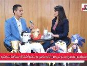 """محمد جمال مهندس يحول الورق إلى مجسمات """"أوريجامى"""""""