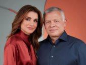 """الملكة رانيا توجه رسالة للملك عبد الله فى عيد زواجهما: """"دائما الأحب على قلبى"""""""