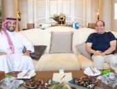 الرئيس السيسى يلتقى ولى العهد السعودى محمد بن سلمان في شرم الشيخ