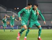 منتخب الجزائر يقهر تونس بثنائية محرز وبونجاح فى الشوط الأول.. فيديو
