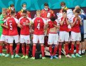 إيركسن يواجه خطر الموت وإيقاف مباراة الدنمارك وفنلندا فى أمم أوروبا