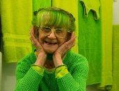 السيدة الخضراء.. أمريكية تتحول لأيقونة اللون الأخضر في نيويورك.. ألبوم صور