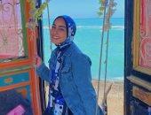 برة الملعب.. نور هشام لاعبة الطائرة: هوايتى الموسيقى وبحب أمينة خليل