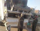 تحرير 12 محضر إشغال طريق ومصادرة عربة جر يدوية بحملات فى مدينة الأقصر