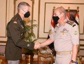 وزير الدفاع يلتقى قائد الحرس الوطنى الأمريكى خلال زيارته الرسمية لمصر..فيديو