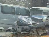 إصابة 5 أشخاص فى حادث تصادم سيارة وتروسيكل بمدخل مدينة قنا الجديدة