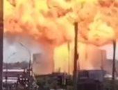 لحظة انفجار محطة وقود فى مدينة روسية بعد ثوان من ارتفاع الدخان.. فيديو