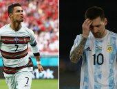 رونالدو يواصل التفوق على ميسي بعد التوهج فى يورو 2020 .. إنفوجراف