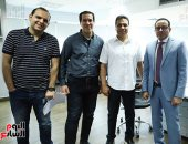 حسام البدرى يزور اليوم السابع ويشيد بتجربة التليفزيون الديجيتال