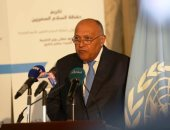 وزير الخارجية باحتفالية تكريم شهداء حفظ السلام: مصر شاركت بـ30 ألف عنصر منذ 1960