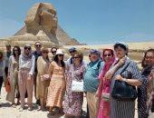 نائبة وزير الثقافة الروسى تزور منطقة الأهرامات.. صور