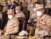 وزير الدفاع يشهد المرحلة الرئيسية للمناورة (رعد - 5) بالذخيرة الحية بالمنطقة الشمالية