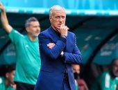 ديشامب يكشف أسباب فشل منتخب فرنسا فى يورو 2020