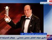 نجل حسن حسنى: أعماله مستمرة فى رسم البسمة لدى الجمهور.. فيديو