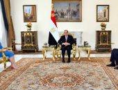 الرئيس السيسي يستقبل وزيرة خارجية ليبيا ويؤكد دعم المجلس الرئاسى والحكومة.. فيديو