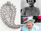 """قصة بروش """"ورقة النخيل"""" الذى ارتدته الملكة إليزابيث فى ختام سباق رويال اسكوت.. صور"""