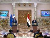 الرئيس السيسي: أكدت لرئيس وزراء اليونان ضرورة التوصل لاتفاق ملزم وقانونى لسد النهضة