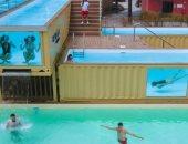 أكبر حمام السباحة من حاويات السفن فى البرتغال على مساحة 180 مترا.. صور