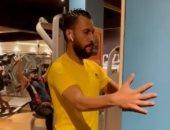 حسام عاشور يؤدى برنامجًا تأهيليًا فى الجيم للتعافى من الصليبى.. فيديو