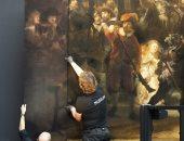 لوحة رامبرانت المشوهة تعود للحياة بتقنية الذكاء الاصطناعى.. اعرف الحكاية