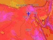 صور الأقمار الصناعية تشير لأجواء شديدة الحرارة وارتفاع نسب الرطوبة