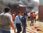إخماد حريق داخل مصنع ولاعات فى منطقة كوم أبو راضى الصناعية ببنى سويف